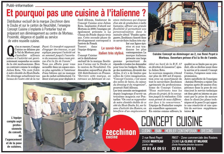 Actualit concept cuisine for Concept cuisine pontarlier